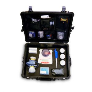 the contents of the Alpha-cat portable cannabinoid analysis testing mobile lab that lets you perform up to 400 THC potency tests