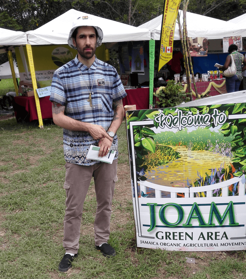 Figure 10: Sebastien is a member of the Jamaican Organic Agriculture Movement