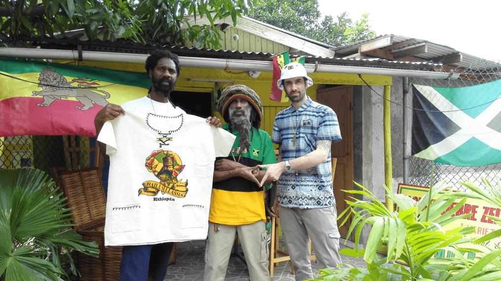 Figure 4: From left to right: Ras Kalheb Selassie, Ras Malekot and Sebastien.