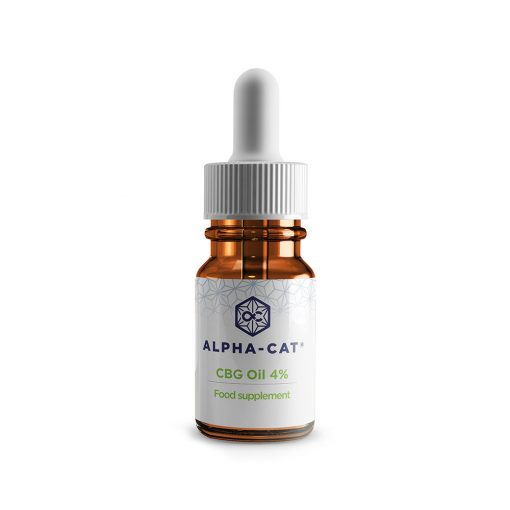 a single 10ml bottle of Alpha-cat 400mg cannabigerol CBG oil in a concentrate of4%