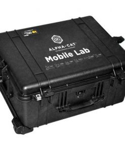 a kit containing the Alpha-cat portable cannabinoid analysis testing mobile lab that lets you perform up to 400 THC potency tests